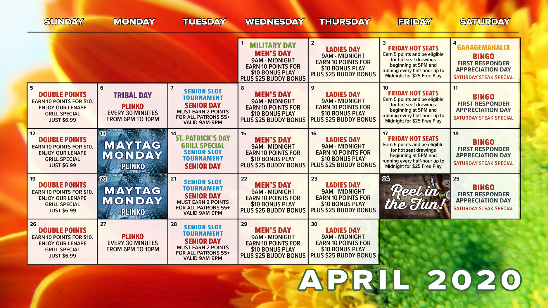 Rivers casino april promotions this week